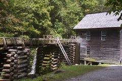 Historische Mahlgut-Mühle, rauchige Berge Stockfoto