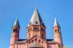 Historische Mainz-Kathedrale Lizenzfreie Stockfotografie
