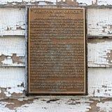 Historische Markierung Wootton lizenzfreies stockbild