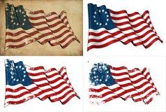Historische Markierungsfahne USA-Betsy Ross stock abbildung