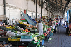 Historische markthal van Porto Stock Foto's