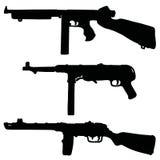 Historische Maschinengewehre Stockfotografie