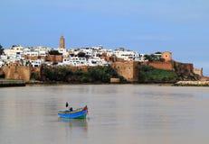 De rivier en Medina van Rabat Marokko Stock Afbeeldingen