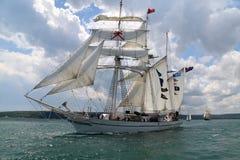 Historische Meerhoher LieferungRegatta 2010 Stockfoto