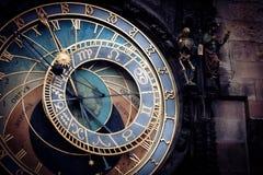 Historische middeleeuwse astronomische Klok Stock Fotografie