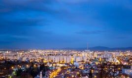 Historische middeleeuwse stad van Brasov, Transsylvanië, Roemenië 6 januari, 2015 Stock Foto