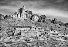 Historische mijnbouwruïnes, Oatman Arizona royalty-vrije stock foto