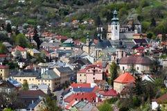 Historische mijnbouwstad Banska Stiavnica stock fotografie