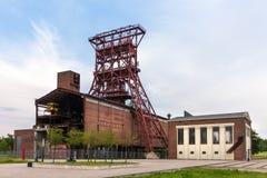 Historische mijnbouwtoren Gelsenkirchen Duitsland Stock Foto's