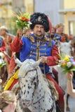 Historische militair op paard Stock Foto's