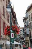 Historische Mitte Bayonnes Stockfoto