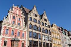 Historische Mitte Breslaus Stockbild