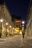 Historische Mitte Bukarests bis zum Nacht Lizenzfreie Stockfotografie