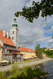 Historische Mitte Cesky Krumlov Stockbild
