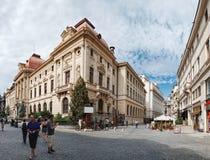 Historische Mitte Lipscani in Bukarest, Rumänien lizenzfreies stockbild
