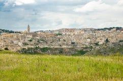 Historische Mitte Sasso Caveoso, Basilikata, Ita Sassi di Materas lizenzfreies stockbild
