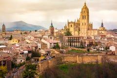 Historische Mitte Segovias Lizenzfreies Stockbild