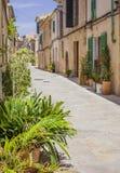 Historische Mitte von Alcudia, Mallorca-Insel lizenzfreies stockbild