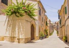 Historische Mitte von Alcudia, Mallorca-Insel lizenzfreies stockfoto