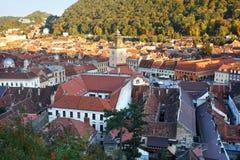 Historische Mitte von Brasov, Rumänien lizenzfreies stockbild