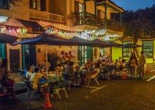 Historische Mitte von Cartagena nachts Stockfoto