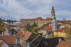 Historische Mitte von Cesky Krumlov stockfotografie