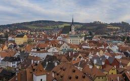 Historische Mitte von Cesky Krumlov stockbild