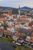 Historische Mitte von Cesky Krumlov stockbilder