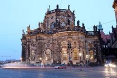 Historische Mitte von Dresden (Marksteine), Deutschland Stockbild