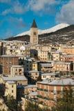 Historische Mitte von Gualdo Tadino in Umbrien stockfotografie