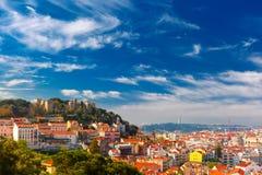 Historische Mitte von Lissabon am sonnigen Tag, Portugal stockfoto