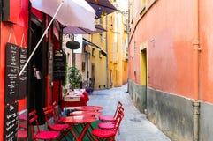 Historische Mitte von Nizza Stockbild