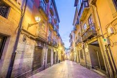 Historische Mitte von Oviedo stockbild