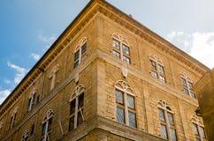 Historische Mitte von pienza Toskana Italien Stockbilder