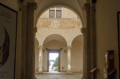 Historische Mitte von pienza Toskana Italien Lizenzfreies Stockfoto