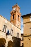 Historische Mitte von pienza Toskana Italien Lizenzfreies Stockbild