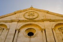 Historische Mitte von pienza Toskana Italien Stockbild