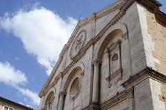 Historische Mitte von pienza Toskana Italien Stockfotos
