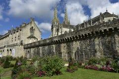 Historische Mitte von Quimper, Bretagne, Nordwest-Frankreich Lizenzfreies Stockbild
