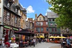 Historische Mitte von Rennes - Frankreich Lizenzfreies Stockfoto