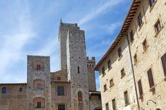 Historische Mitte von San Gimignano, Toskana, Italien Lizenzfreies Stockfoto