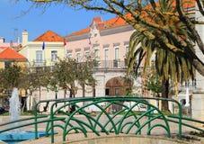 Historische Mitte von Setubal, Portugal stockbild