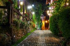 Historische Mitte von Sighisoara lizenzfreie stockfotografie