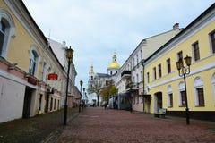 historische Mitte von Vitebsk, SUVOROV-Straße stockfoto