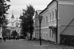 historische Mitte von Vitebsk, SUVOROV-Straße stockfotografie