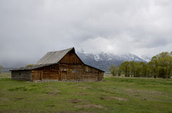Historische Mormoonse Rij, het Nationale Park van Grand Teton, Jackson Hole-vallei, Wyoming, de V.S. Stock Afbeelding