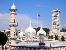 Historische Moschee, Masjid Jamek bei Kuala Lumpur, Malaysia Stockfotografie