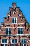 Historische Nederlandse gestapte geveltop Stock Fotografie