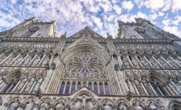 Historische Nidaros-Kathedraal in Trondheim, Noorwegen stock foto