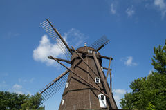 Historische niederländische Artwindmühle in Melby, Dänemark Stockfoto